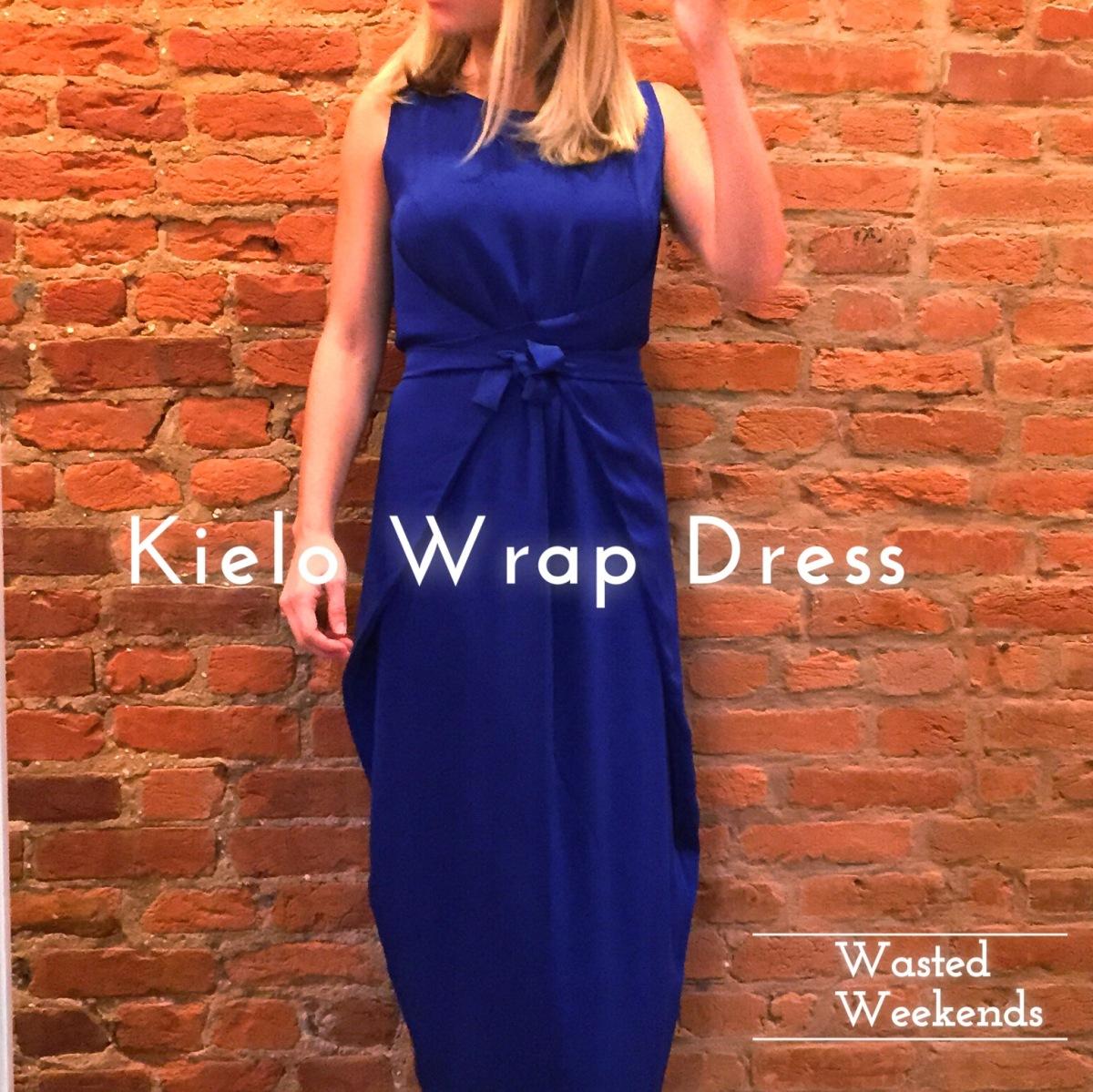 Dress Blues Kielo Wrap Dress Wasted Weekends